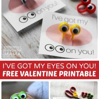 I've Got my EYES on You Valentine with FREE Valentines Printables