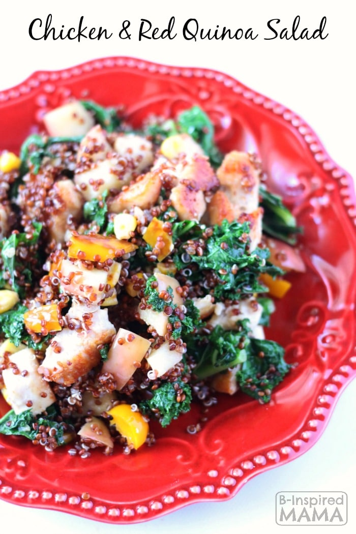 Quicken and Red Quinoa Salad - Yummy Warm or Cold - at B-Inspired Mama