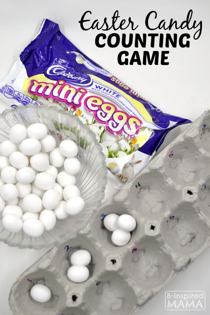 An Easy Easter Candy Counting Game for Kids - at B-Inspired Mama
