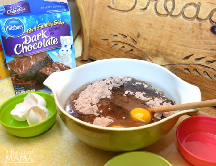Dark Chocolate Strawberry Brownies for Your Valentine - Made Easy with a Pillsbury Brownie Mix - B-Inspired Mama