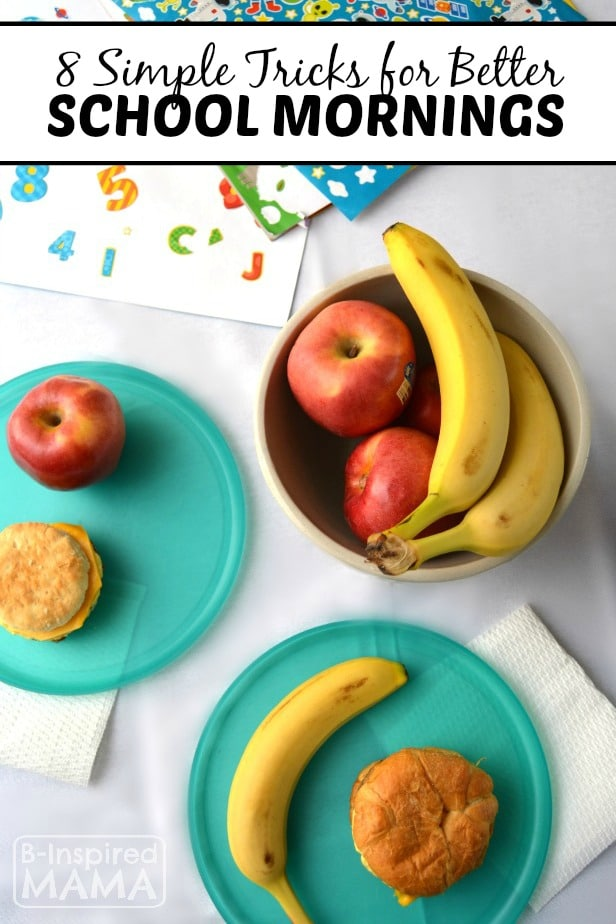 8 Simple School Morning Routine Tricks - at B-Inspired Mama