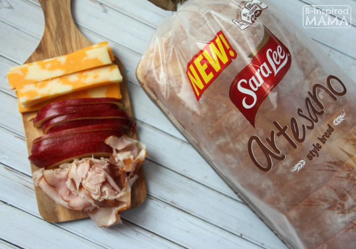 Apple and Ham Grilled Cheese Sandwich - Ingredients - A Fancy Grilled Cheese for Kids - at B-Inspired Mama