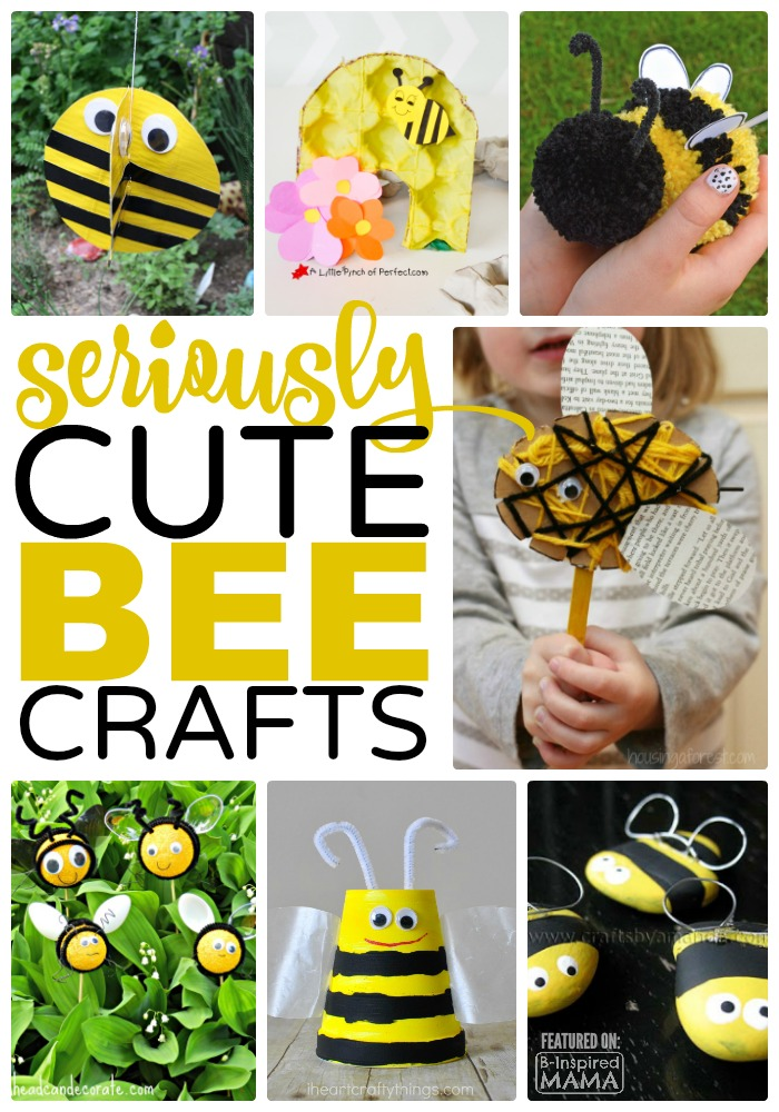 15 Seriously Cute Kids Crafts - Featuring Bees - Perfect for a Preschool Unit or Just for Summer Fun - at B-Inspired Mama