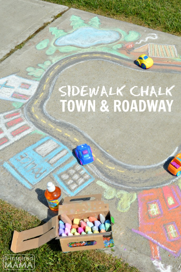 Sidewalk Chalk Art the Kids Can PLAY In - A Giant Chalk Art Town