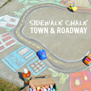 Sidewalk Chalk Art the Kids Can PLAY In – A Giant Chalk Art Town