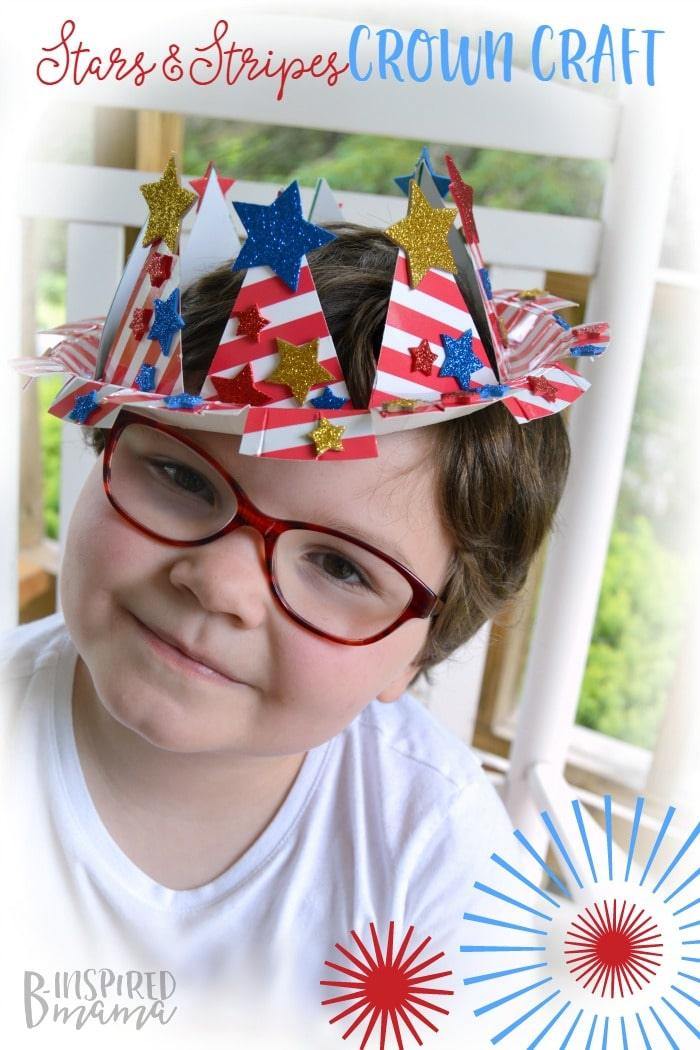 Easy 4th of July Craft for Kids – A Stars and Stripes Crown