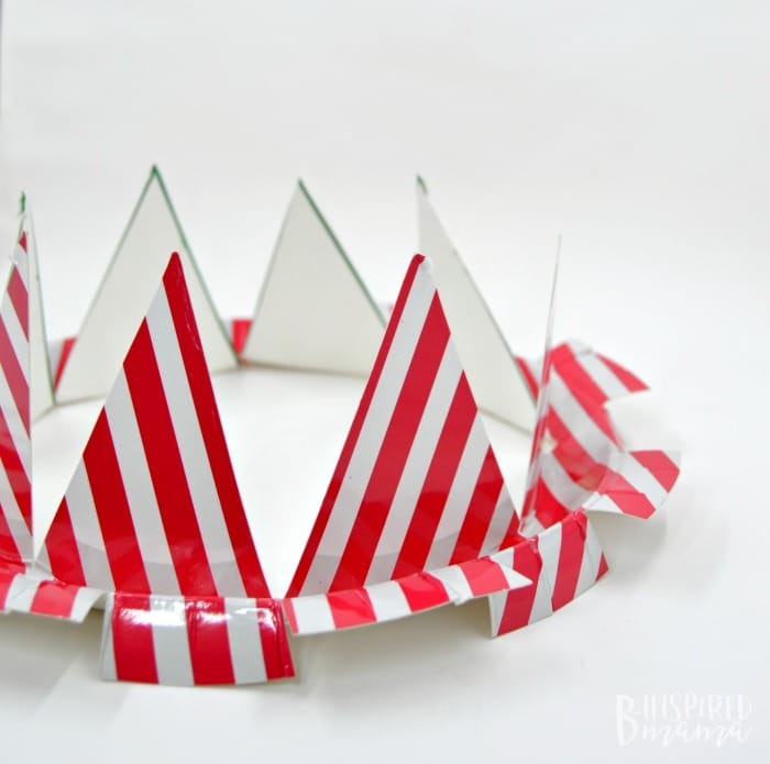 An Easy 4th of July Craft for Kids - A Stars and Stripes Crown - Starting to look like a crown - at B-Inspired Mama