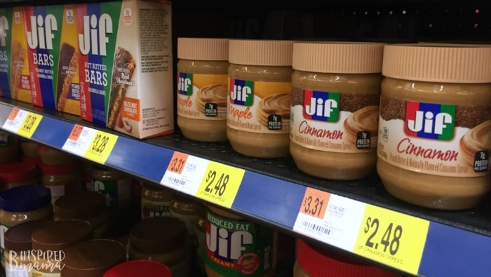 Jif Bars and Jif Flavored Spreads at Walmart + Perfect for this Frozen Waffle Topping Buffet - A Fun and Easy Breakfast for Kids - at B-Inspired Mama