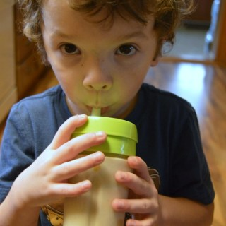Creamy Vanilla Peanut Butter Smoothie for Kids