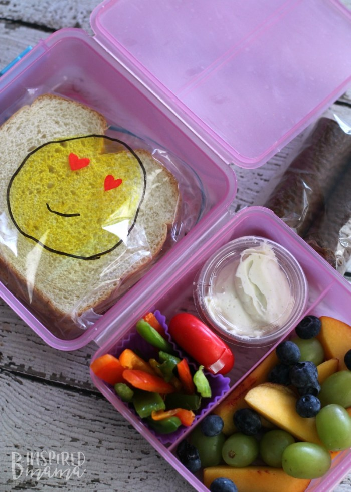 Packing School Lunches like a Cool Mom - Even if You're Not - An Easy Colorful Kids Lunch - at B-Inspired Mama