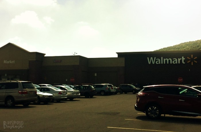 Shopping at Walmart for Jimmy Dean Premium Bacon for my Maple Bacon Sweet Potato Recipe - B-Inspired Mama