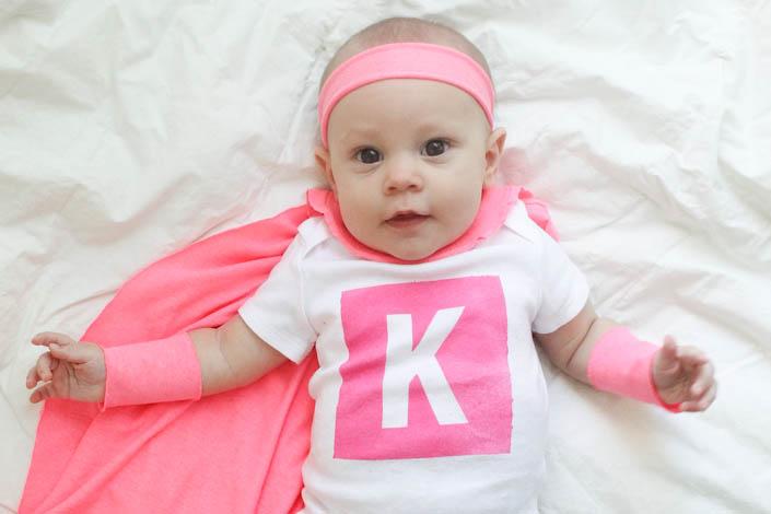 DIY Super Baby Costume