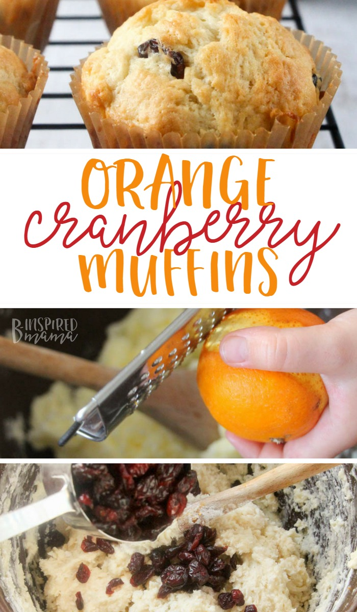 Seriously awesome Orange Cranberry Muffins - perfect for a Fall snack - at B-Inspired Mama