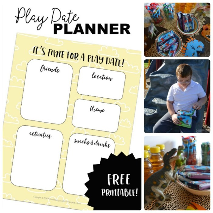 FREE Kids' Play Date Planner Printable + Fitting in some play dates during busy school weeks