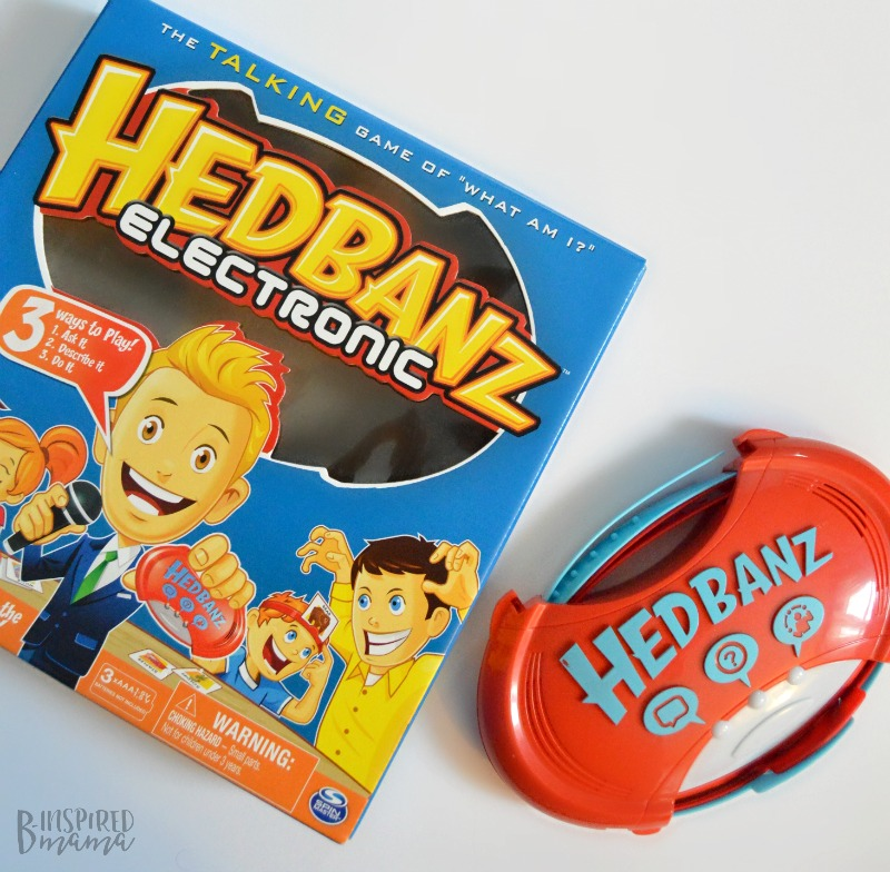 A Fun Family Game Night - Made Easy with Hedbanz Electronic - at B-Inspired Mama