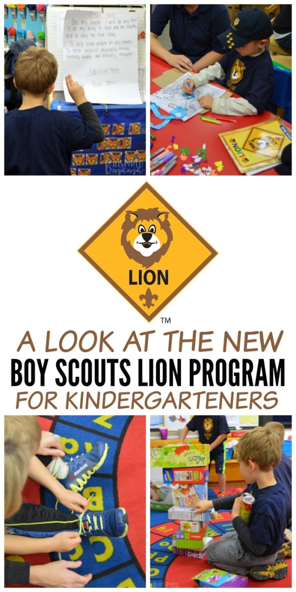 A Look at the new Boy Scouts Lion Program - for Kindergarten Boys and their Parents and Families