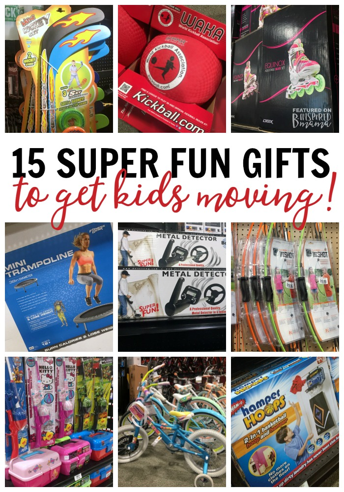 15 Super Cool Gifts to Get Kids Moving - Perfect Christmas gift ideas for athletic kids or those who need to get more active! - A 2016 Holiday Gift Guide from B-Inspired Mama