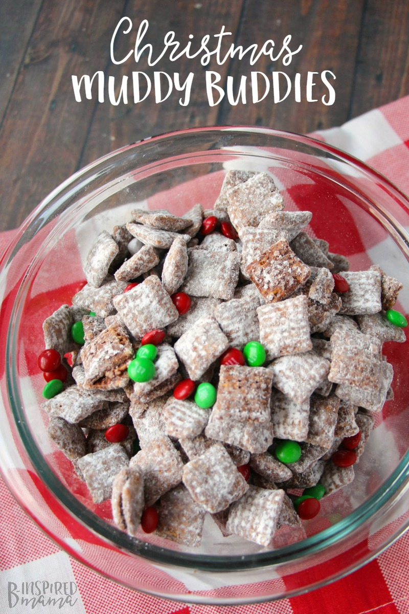 An easy Christmas Muddy Buddies Recipe - Your Kids Will Remember Forever - at B-Inspired Mama