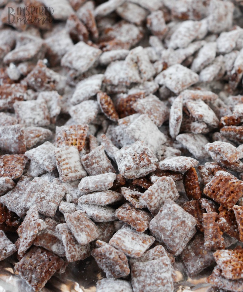 Muddy Buddies ready to be made Christmasy - An easy Christmas Muddy Buddies Recipe - Your Kids Will Remember Forever - at B-Inspired Mama