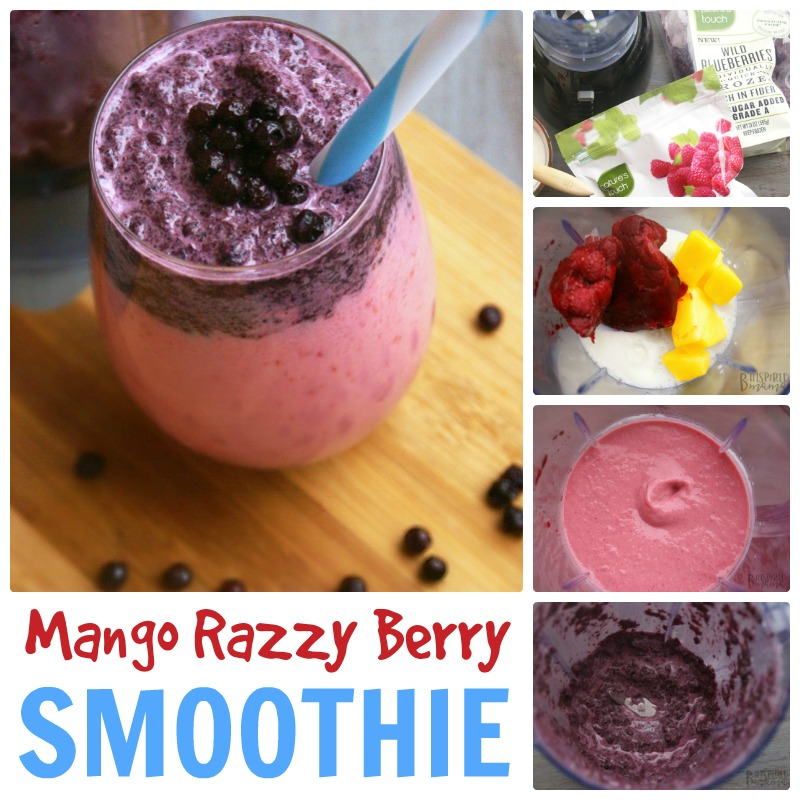 Mango Razzy Berry Kids Fruit Smoothie at B-Inspired Mama