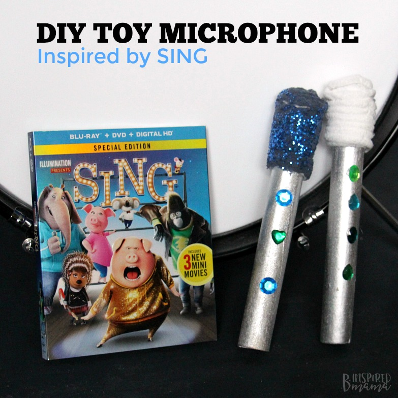 Easy DIY Kids Microphone Toy - Inspired by the Movie SING - Perfect for kids imaginative play and for encouraging a love of music and dance