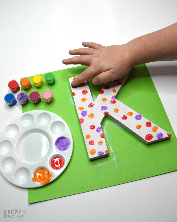 Cute Painted Letter Craft - A kid made handmade gift mom will treasure