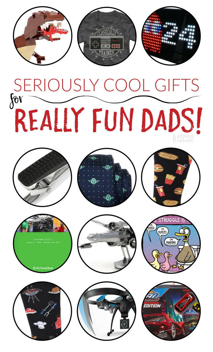 Need some gift ideas for that guy who drives you a little buggy but makes the kids laugh like crazy? This guide full of gifts for really fun dads ROCKS! From the nerdy dad to the dad who loves to play with his kids' toys, B-Inspired Mama's got the Holiday Gift Guide with the perfect dad gifts for every guy! #binspiredmama #giftguide #christmas #shopping #kbn #kbnmoms #gifts