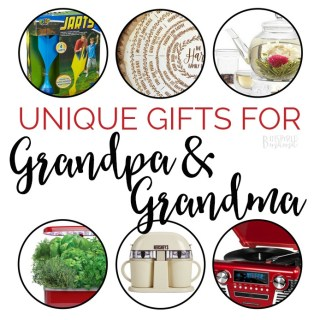 Unique Gifts for Grandpa and Grandma - A B-Inspired Mama Holiday Gift Guide