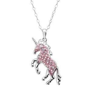 Magical Unicorn Pendant with Swarovski Crystals