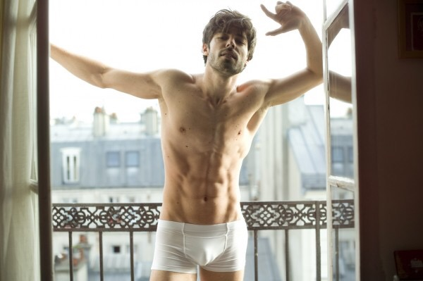 Valentin D'Hoore @ Elite by Nicolas Aristidou in his Mariner for Un Homme Un Slip