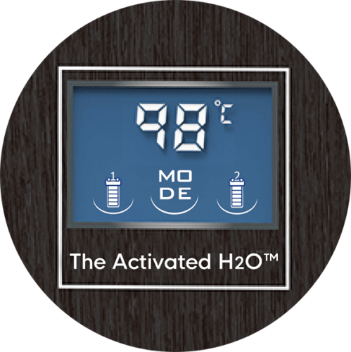 The Activated H2O顯示螢幕