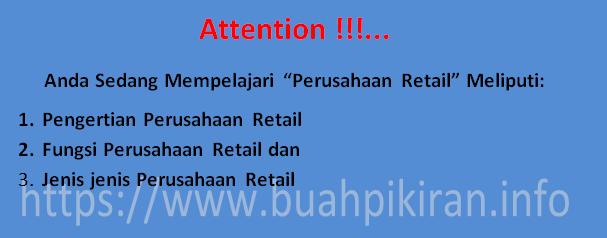pengertian retail atau perusahaan retail