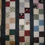 Strips made from four patch blocks pieced by Mother