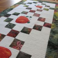Quilting the Pumpkin Table Runner