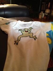 frog on onesie