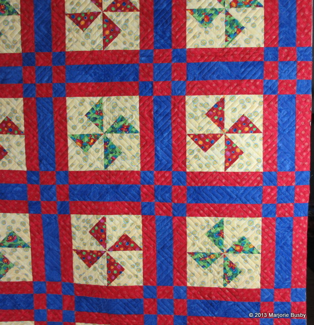 Pinwheels with Interlocking Squares
