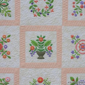 Closeup of Baltimore Album Quilt