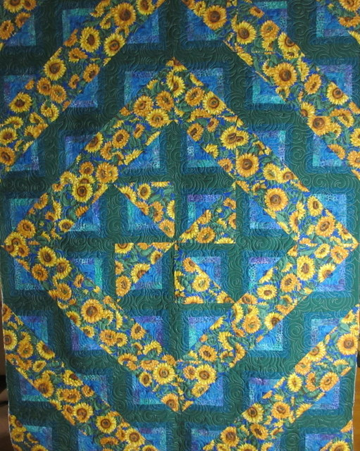 SwirlyQs quilting design