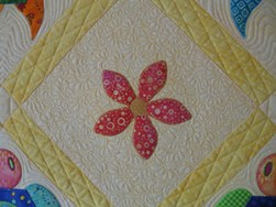 Fun Flowers Quilted in the Hoop