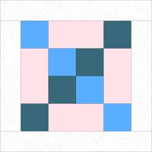 Quilt Block with Floating Frame