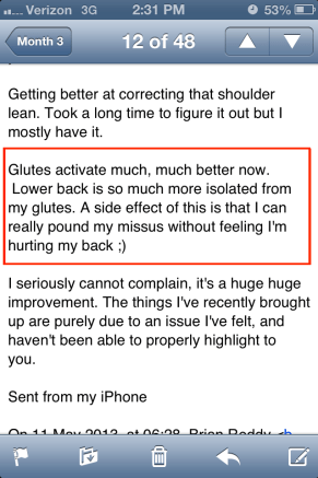 Mark testimonial lower back pain