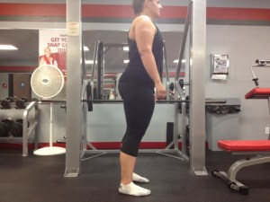 Hip extension standing