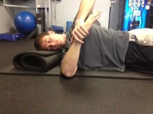 Sleeper stretch good form