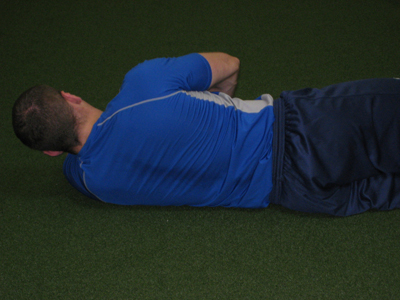 Sleeper stretch scapula