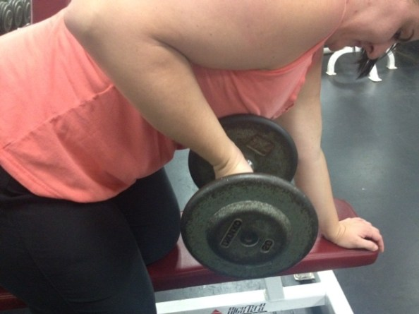 DB Row wrists extended