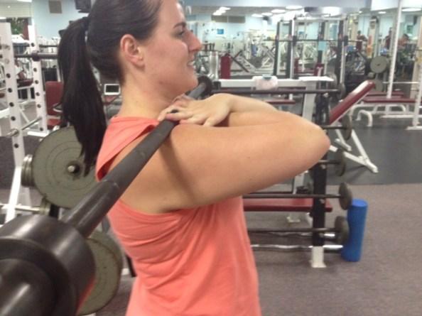 Front Squat cross grip