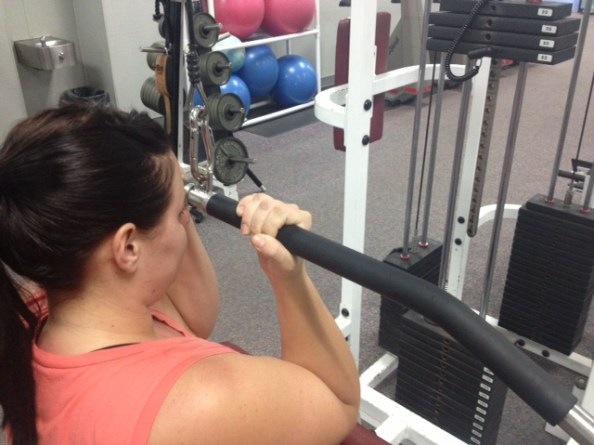Pulldowns underhand grip