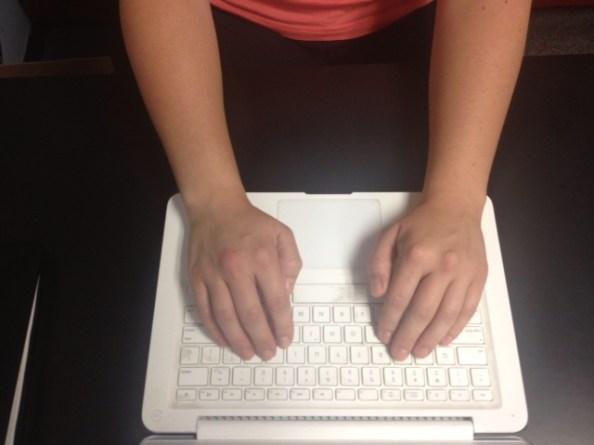 Typing wrists straight