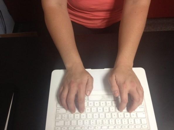 Typing wrists ulnar deviation