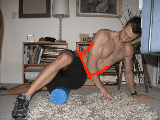 foam roll it band lower back issues lines